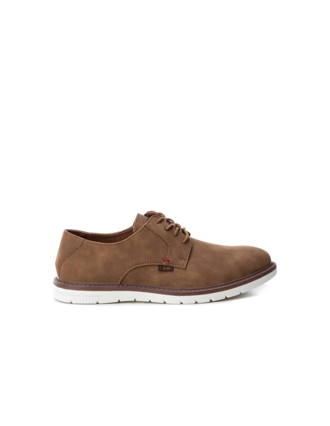 d55b14cefbc zapato de hombre marca xti suela blanca color camel envío gratis