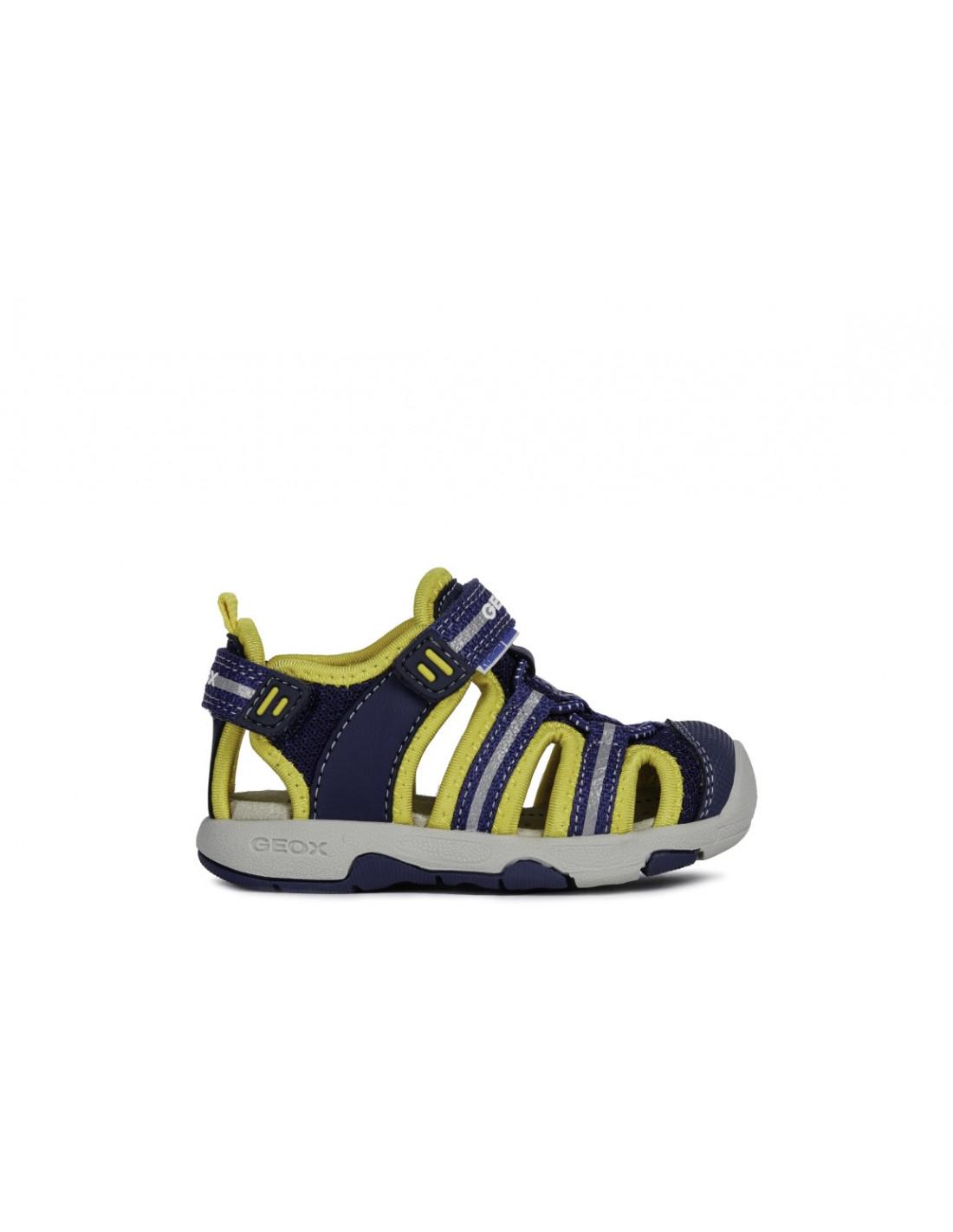 e5d99c230 sandalia geox para niño transpirable flexible y amortiguada color azul