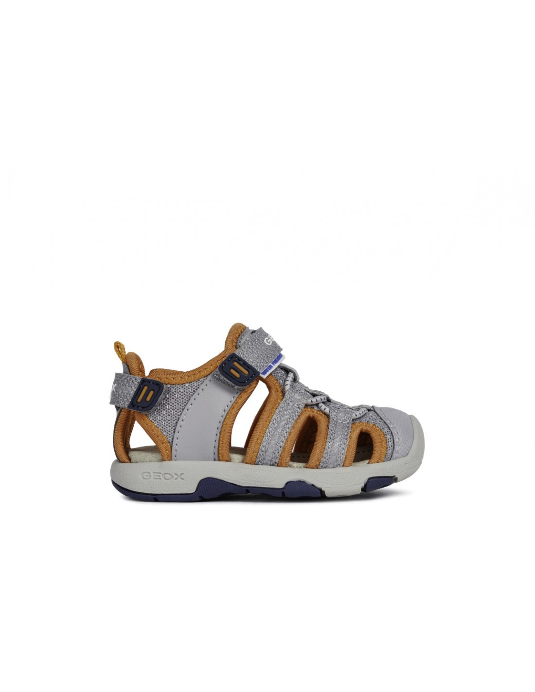 5aa2f2cd0 sandalia geox para niño transpirable flexible y amortiguada color gris