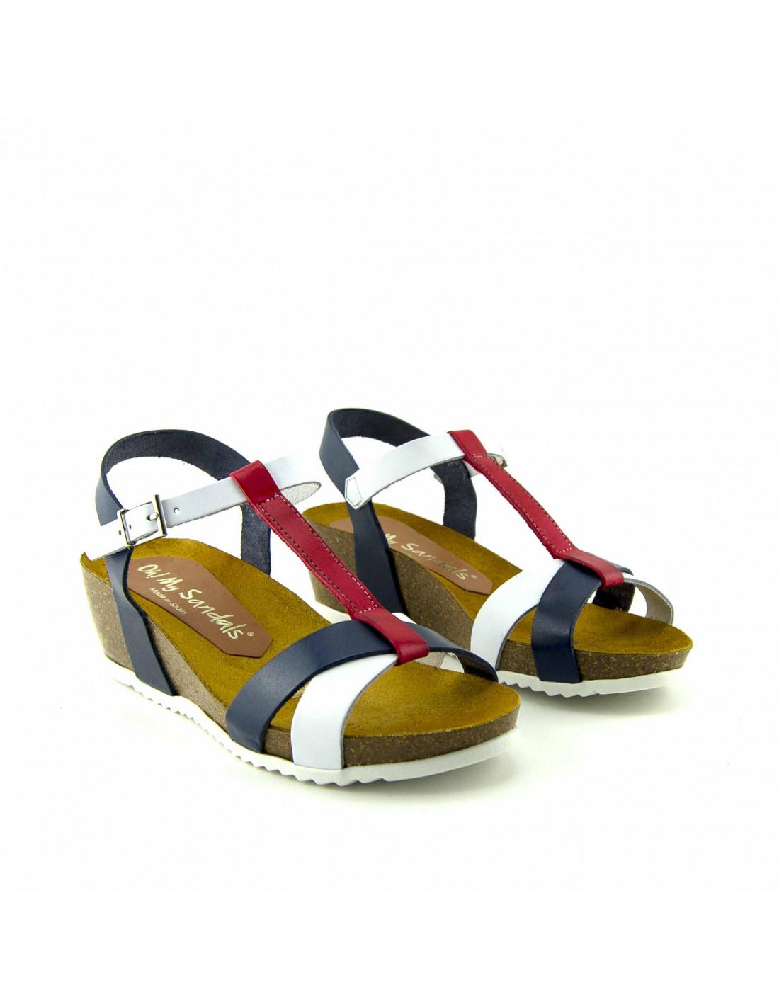 ConfortPlantilla Piel De Sandalias Mujer Fabricadas Con Y Sistema 0wOnPk